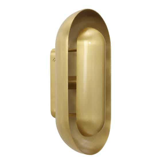 Cto Lighting Capsule Wall Gold Haute Living