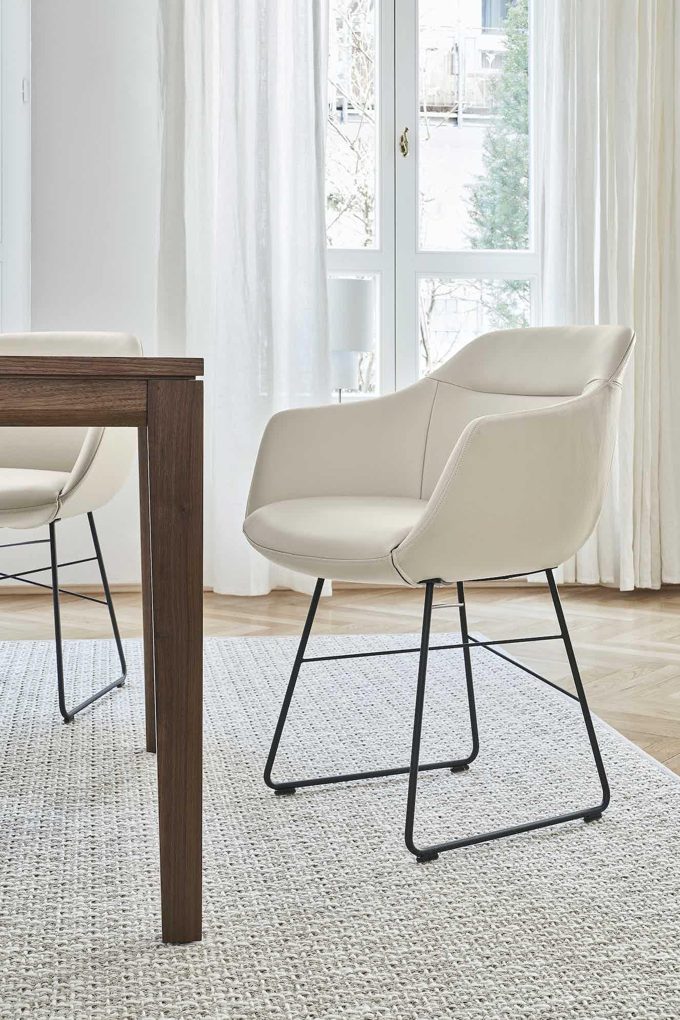 Jab Anstoetz Cara Dining Chair Angle Haute Living