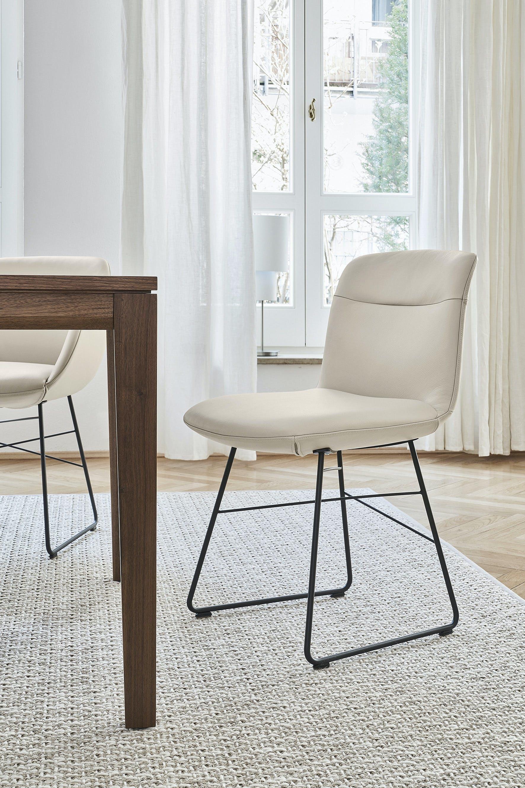 Jab Anstoetz Cara Dining Chair Sled Base Haute Living