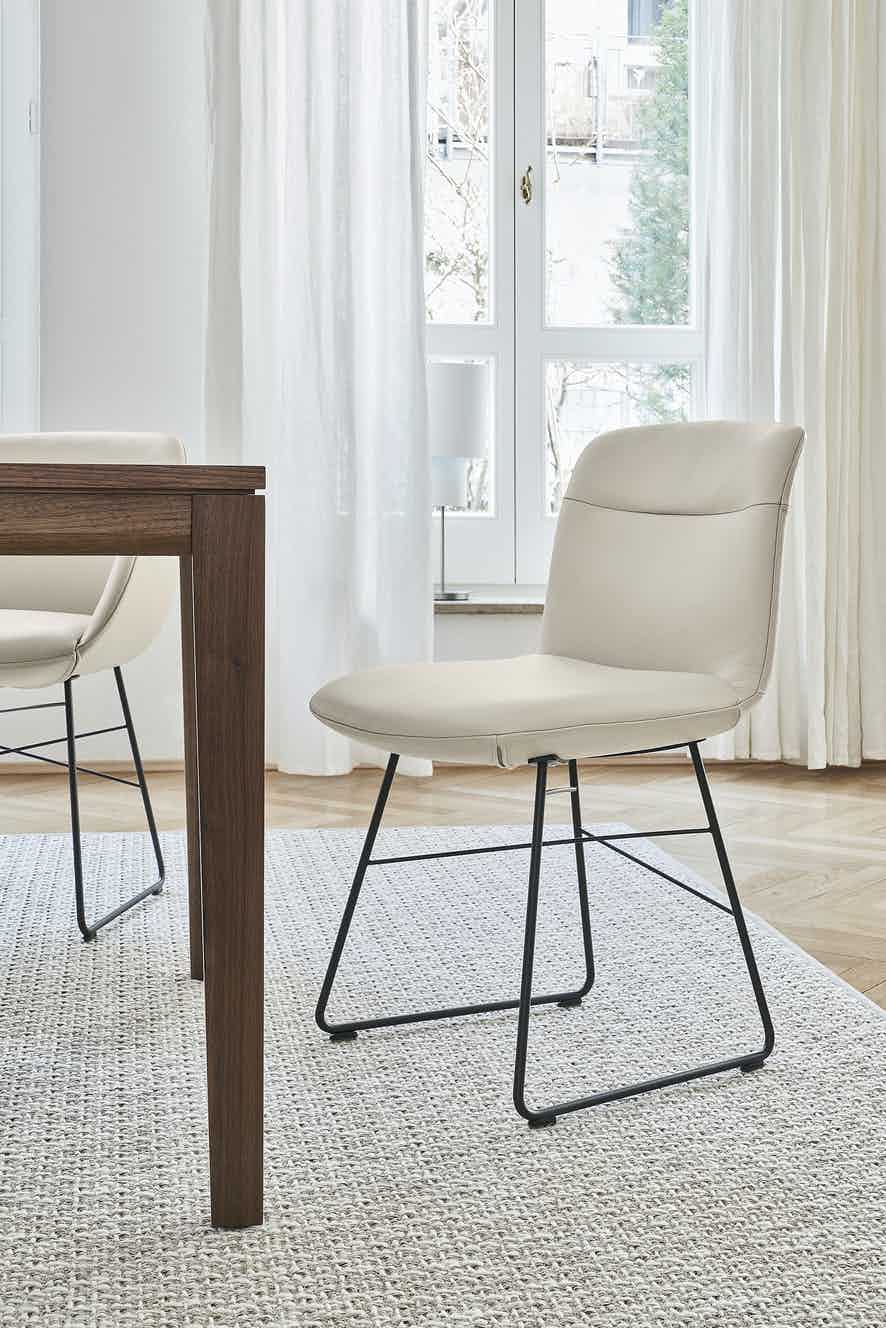 Jab Anstoetz Cara Dining Chair Sled Base Haute Living