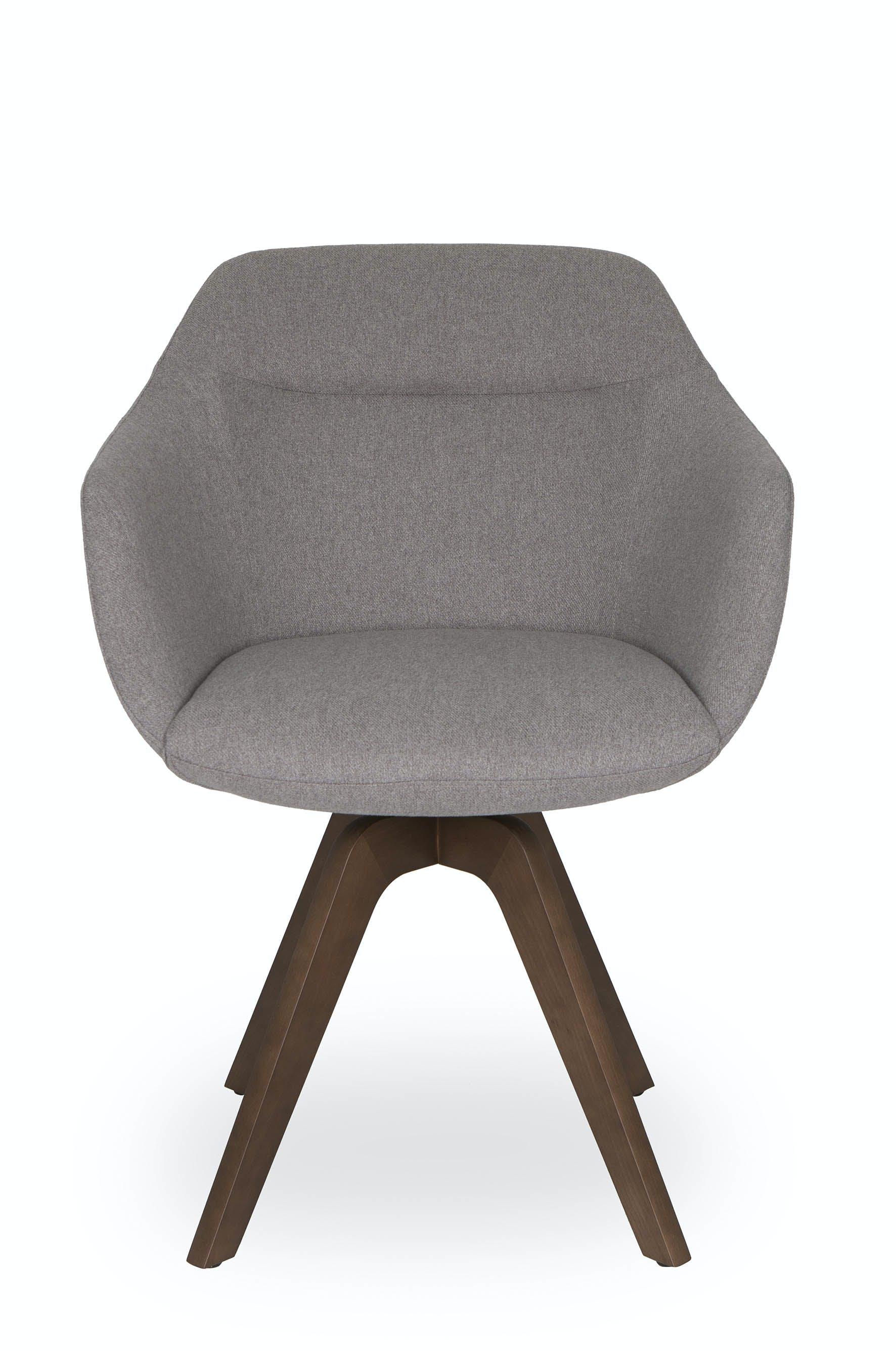 Jab Anstoetz Grey Cara Armchair Front Haute Living