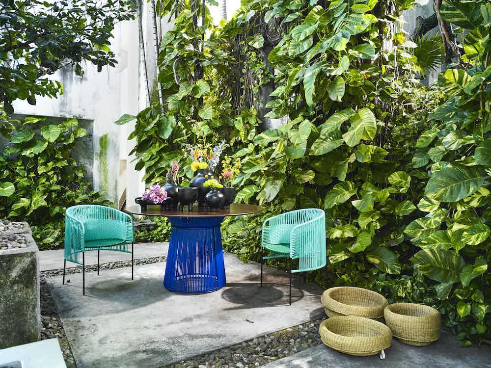 Ames furniture design caribe dining table insitu haute living