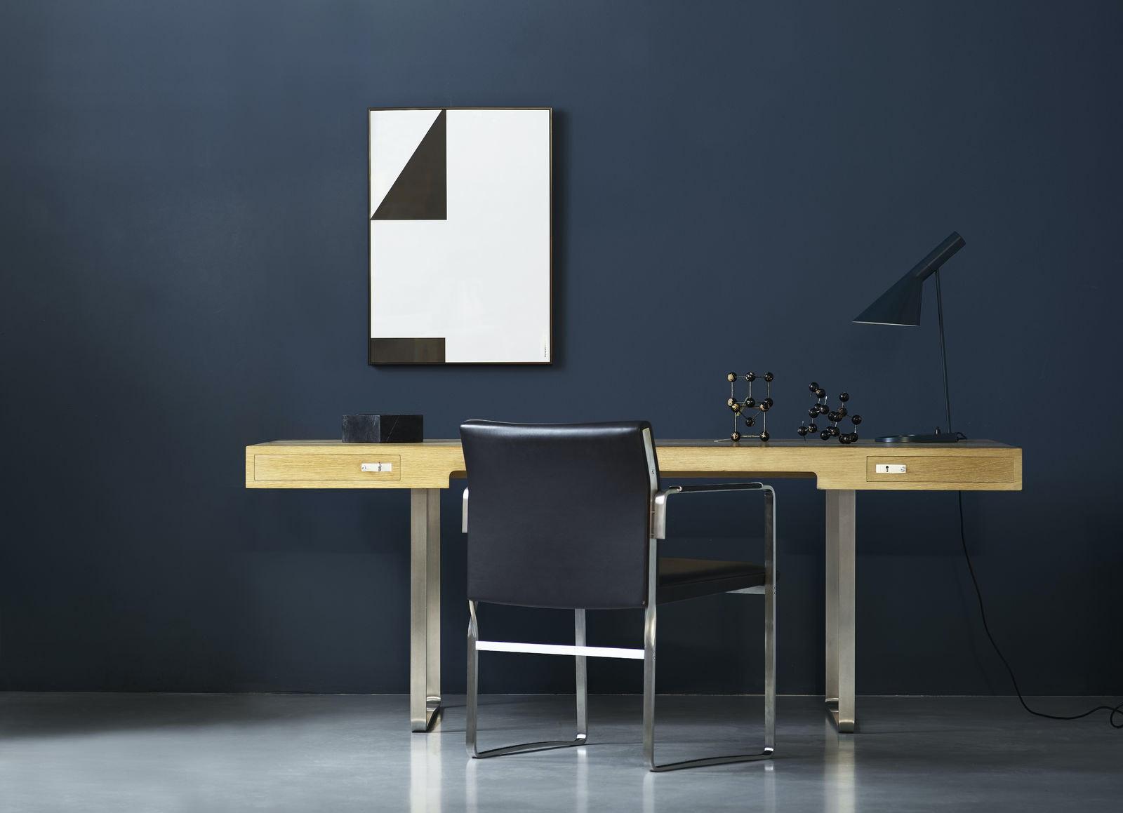 Wegner Ch110 Desk Oak Oil Ch111 Chair Thor301 1600X1600