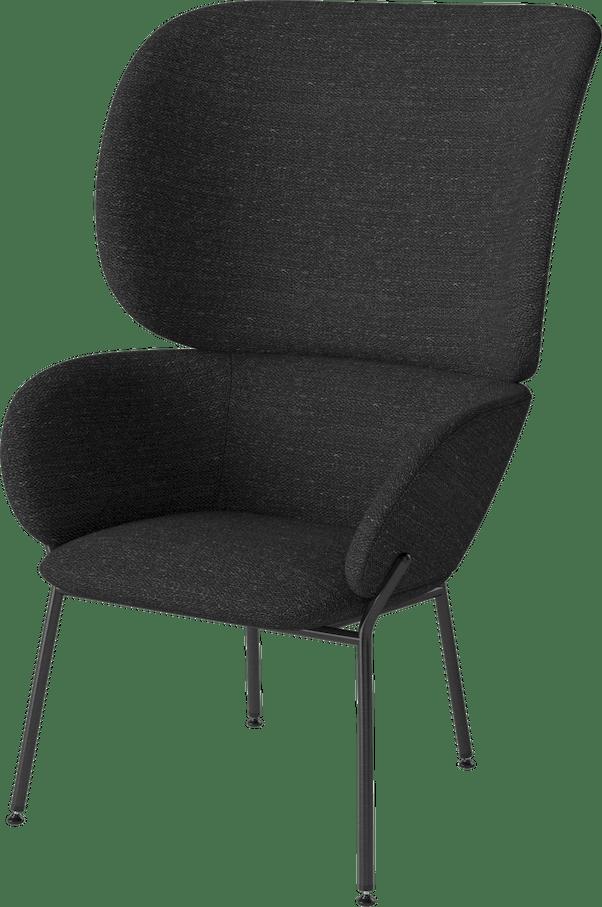 bolia black carmen armchair haute living