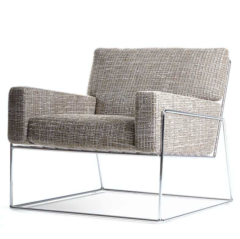 Moooi charles chair brown angle haute living