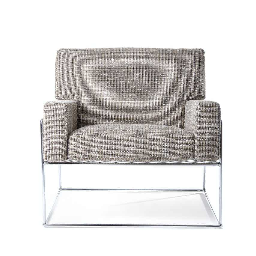 Moooi charles chair brown front haute living