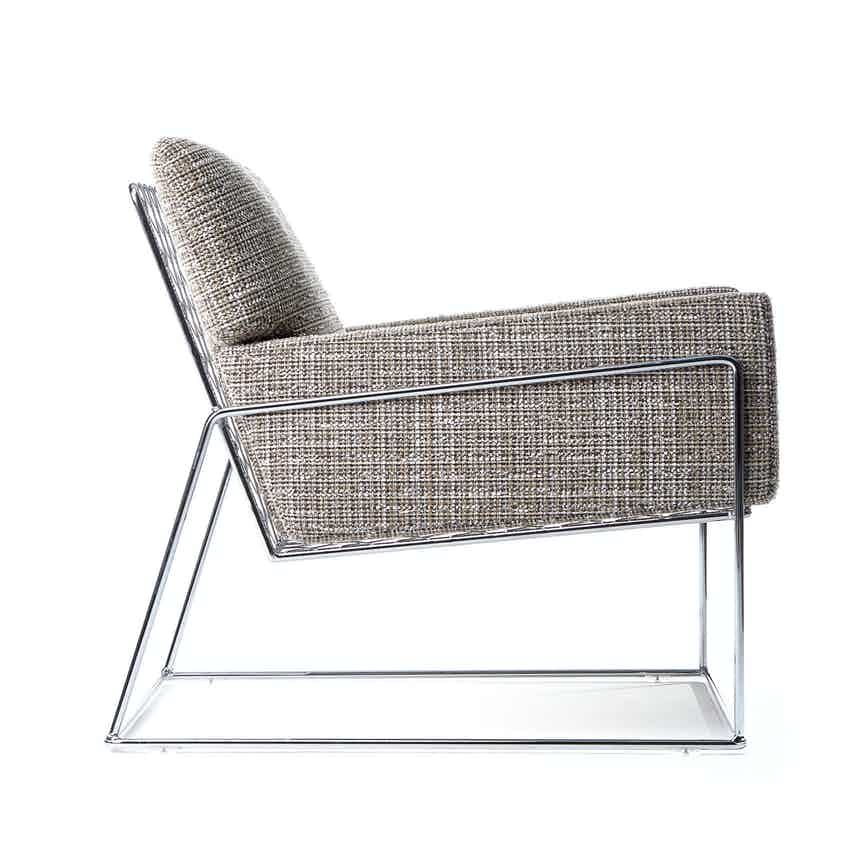 Moooi charles chair brown side haute living