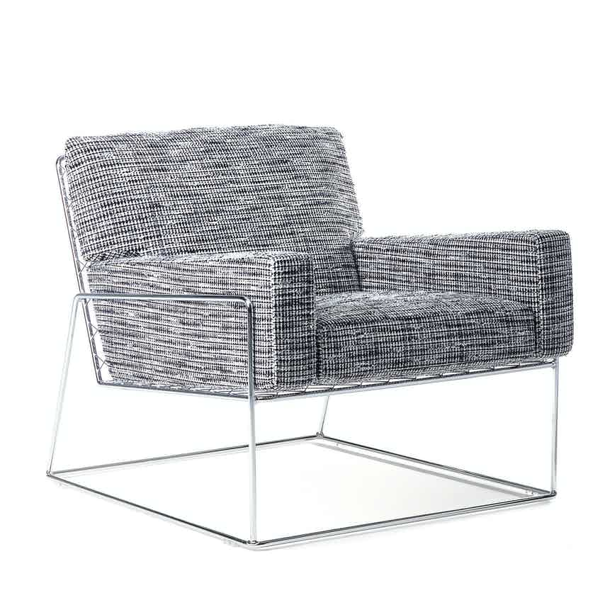 Moooi charles chair grey angle haute living