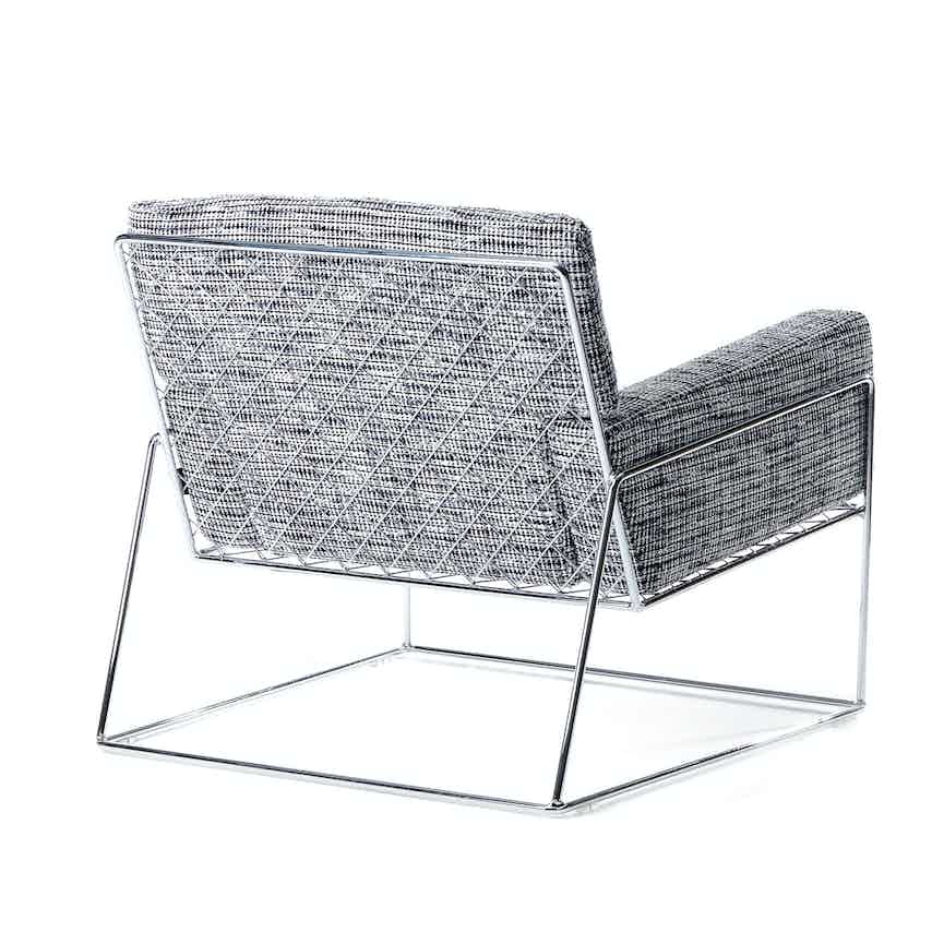 Moooi charles chair grey back haute living
