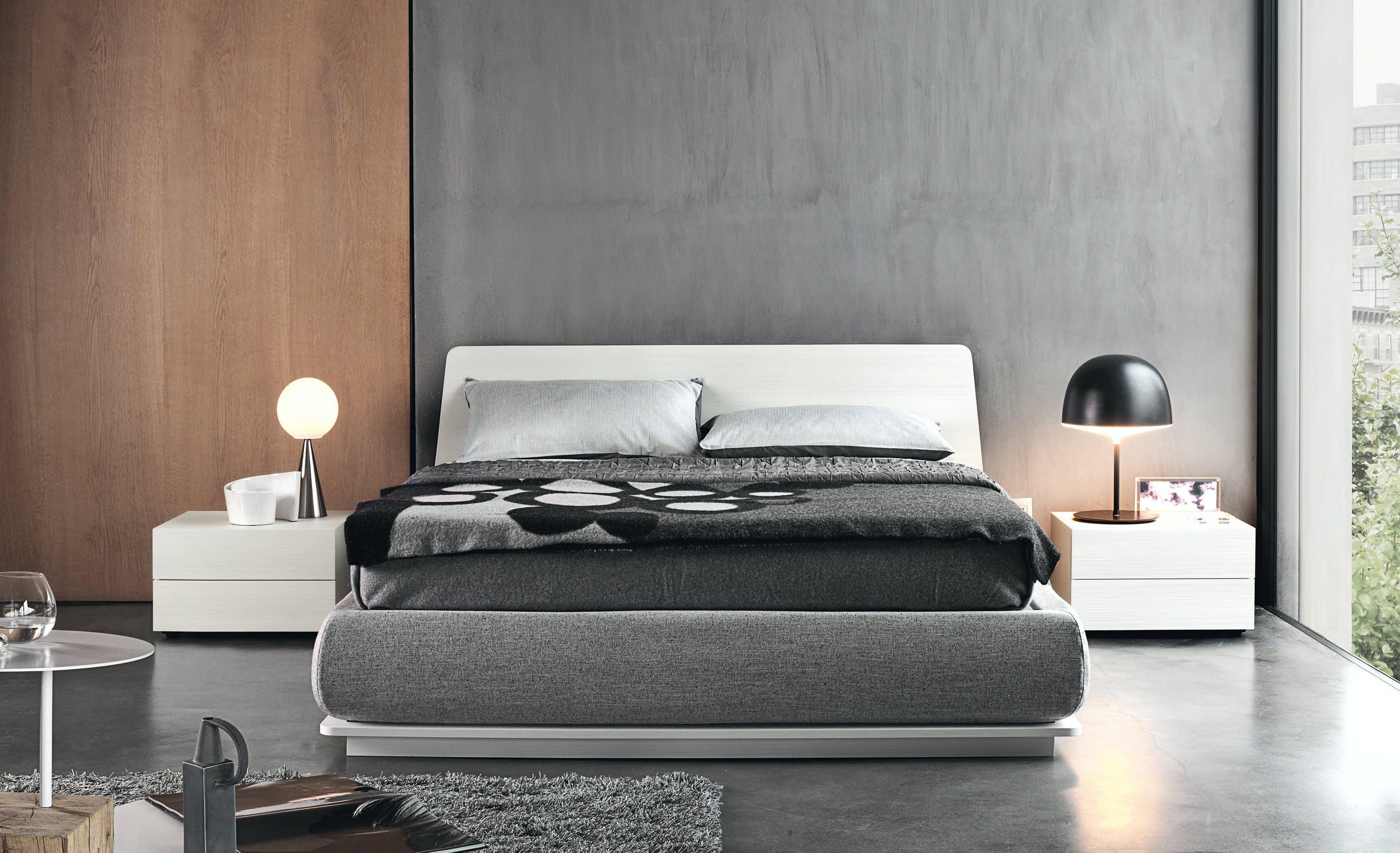 Giellesse Charme Bed White Full Front Haute Living