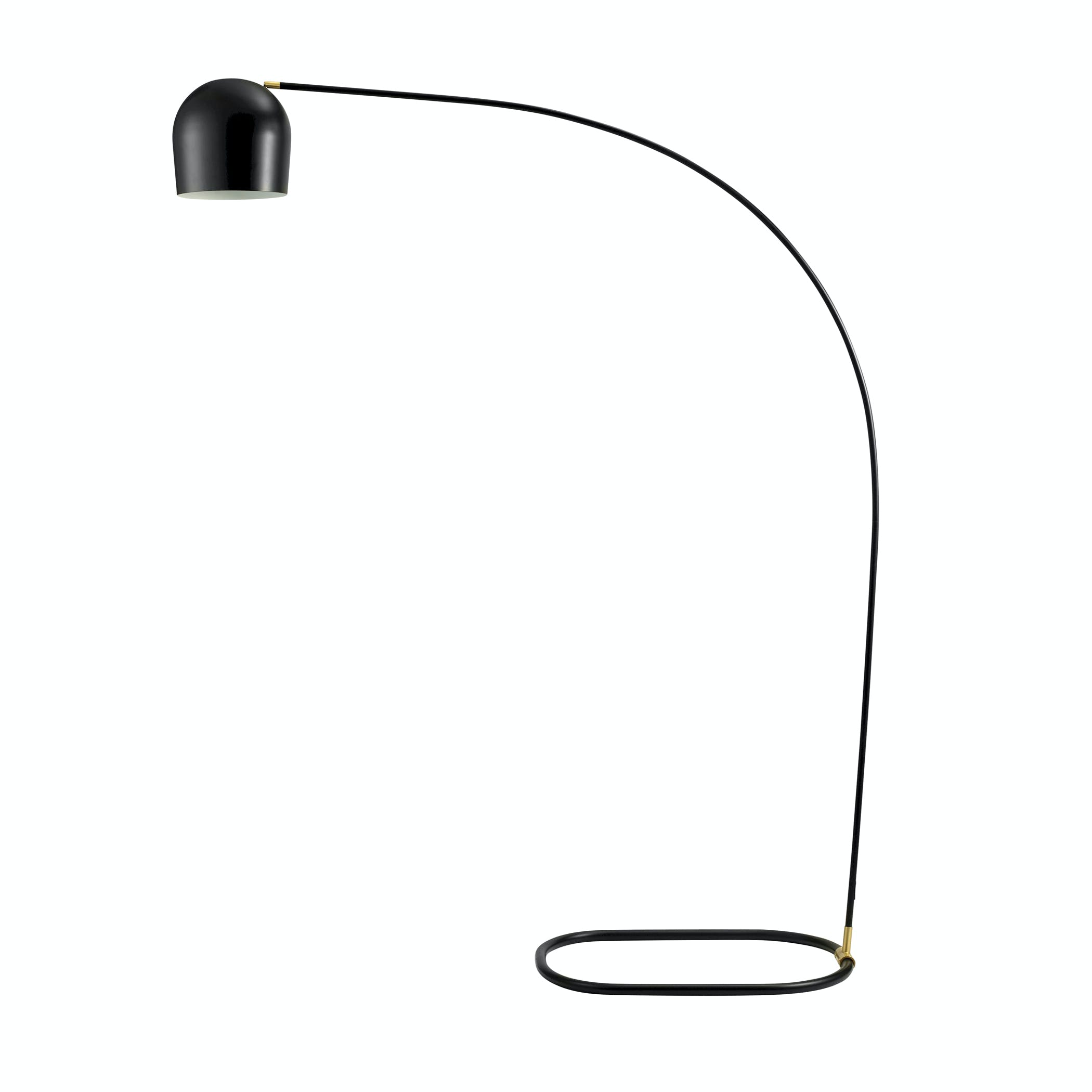Circle Floor Lamp Black