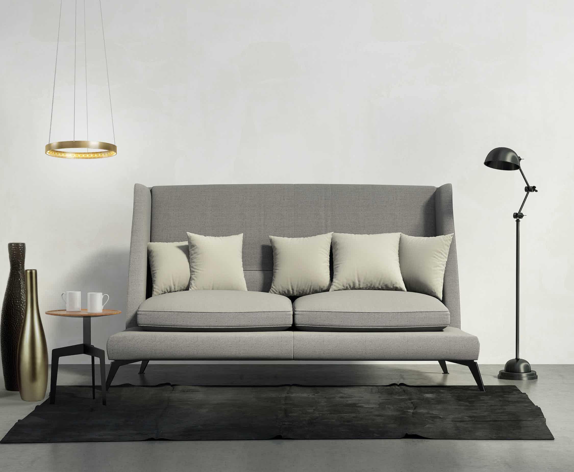 Le-deun-luminaires-circle-30-hanging-lamp-gold-sofa-haute-living