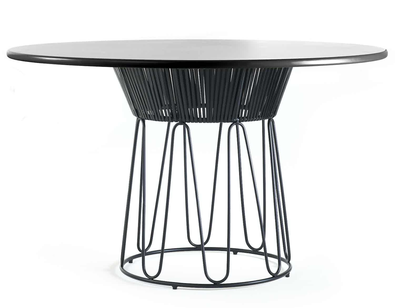 Ames furniture circo dining table black haute living