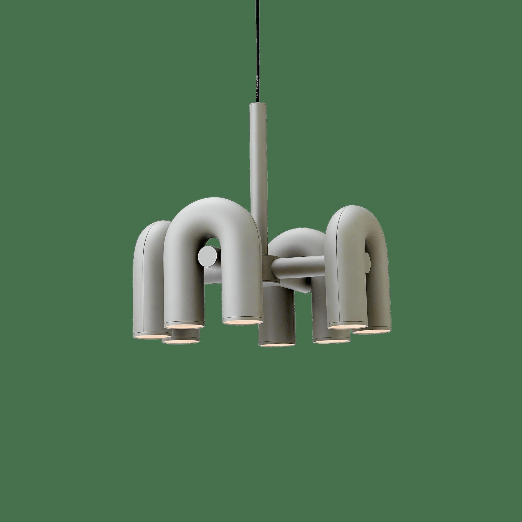 Ago lighting small circkus chandelier grey haute living