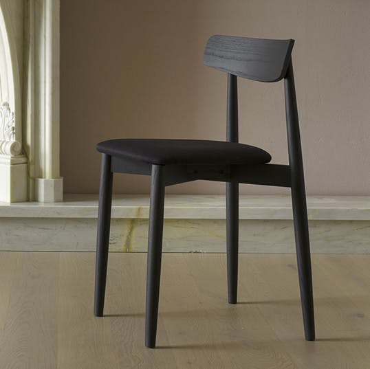 Miniforms Claretta Chair Black Angle Haute Living