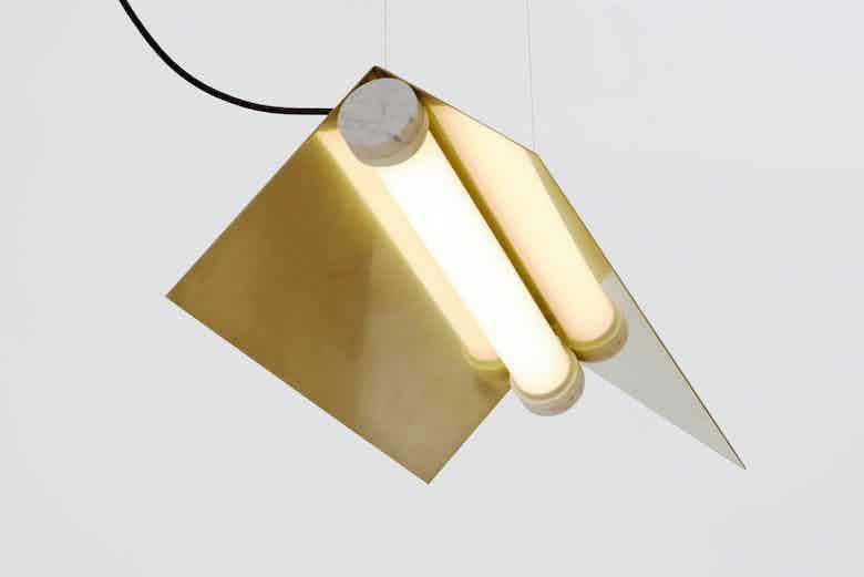 lambert & fils clark suspension light detail haute living