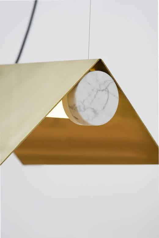 lambert et fils clark suspension marble cap detail haute living