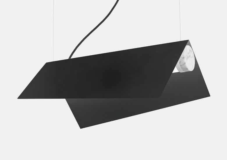 lambert et fils black clark suspension hanging lamp haute living
