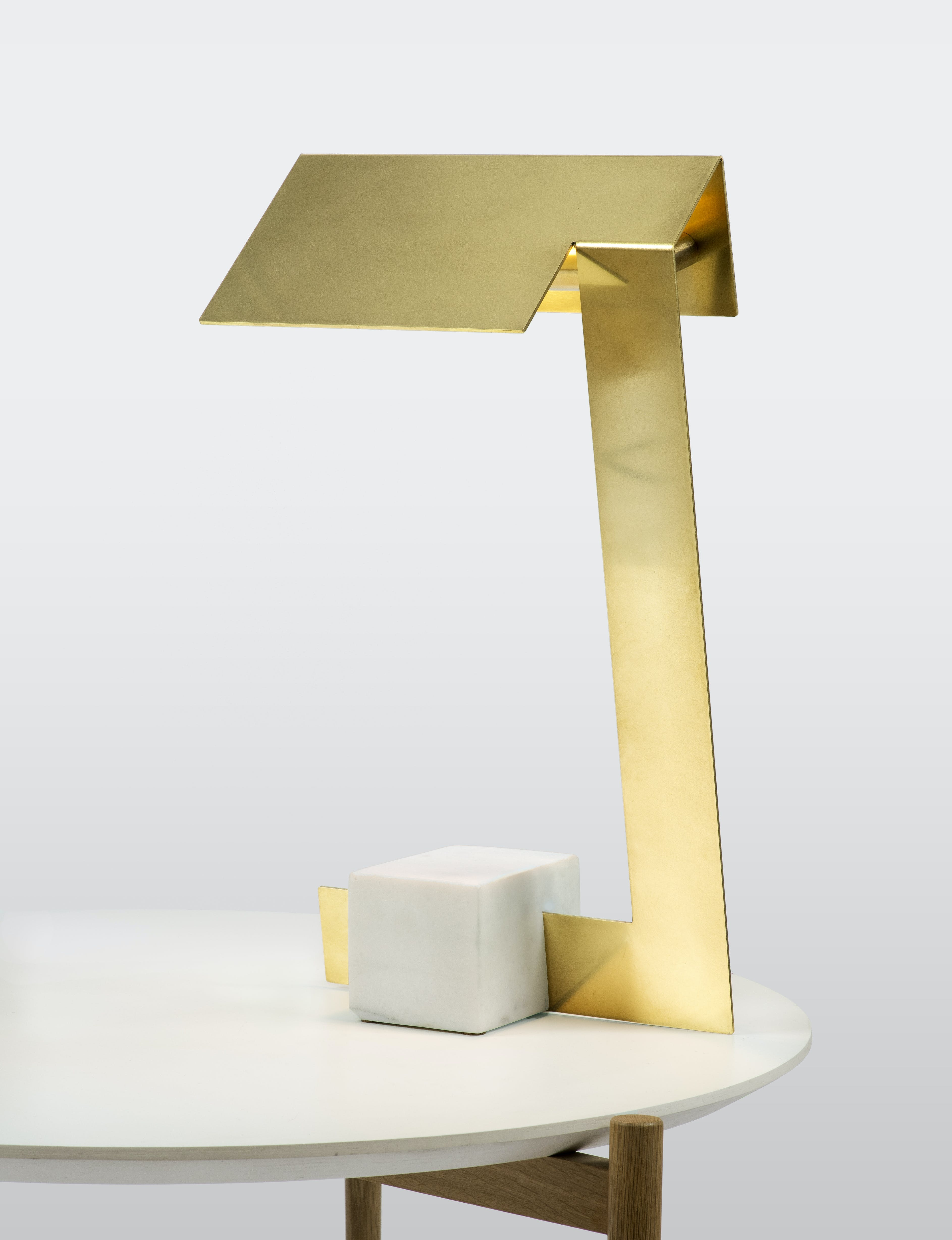lambert & fils clark table lamp haute living