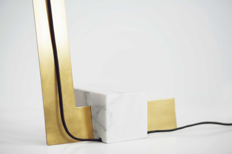 lambert et fils clark table lamp base detail haute living