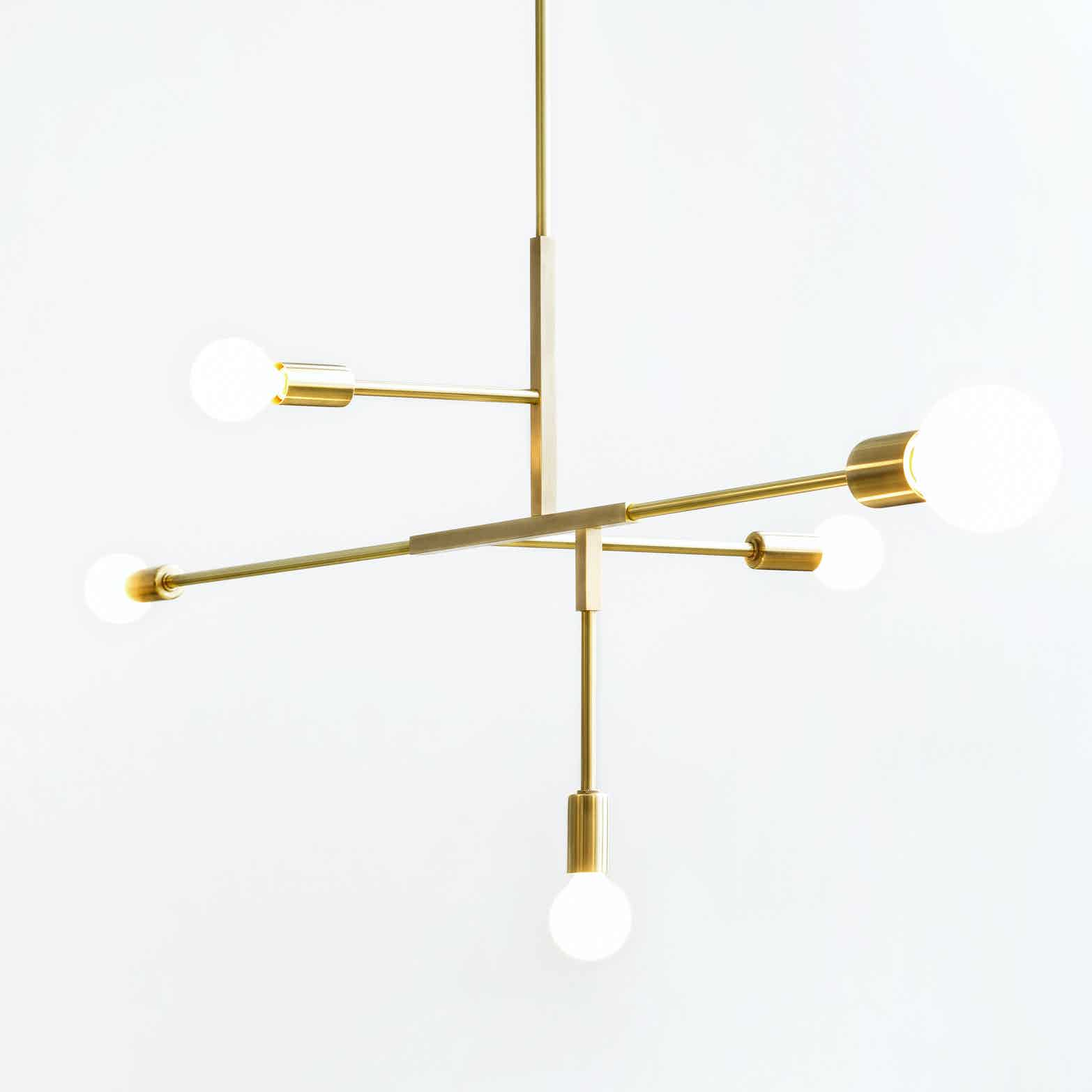 lambert et fils cliff suspension hanging lamp haute living