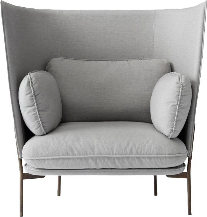 Andtradition Grey Cloud Lounge Chair High Back Thumbnail