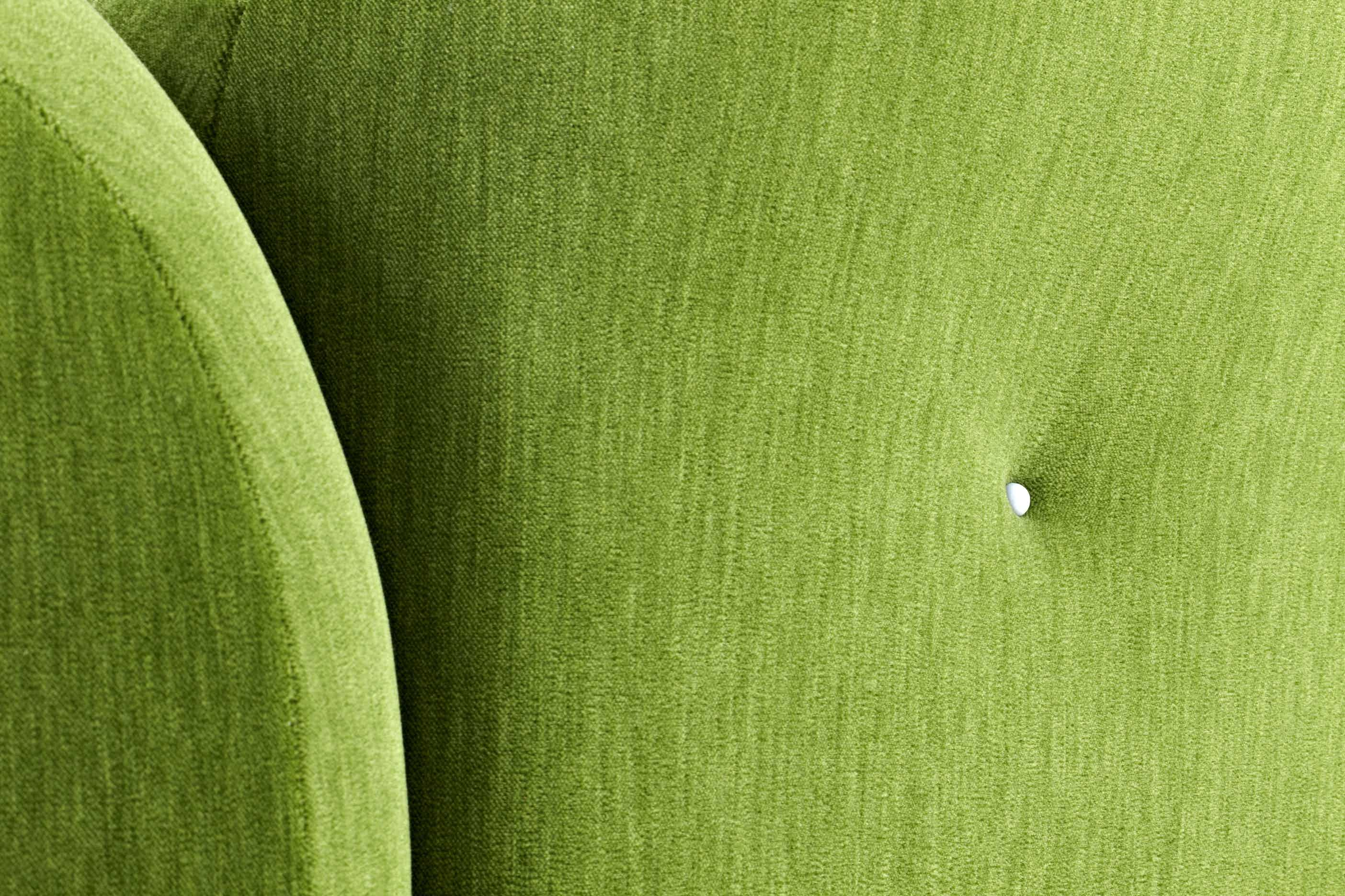 Moooi cloud sofa green detail haute living