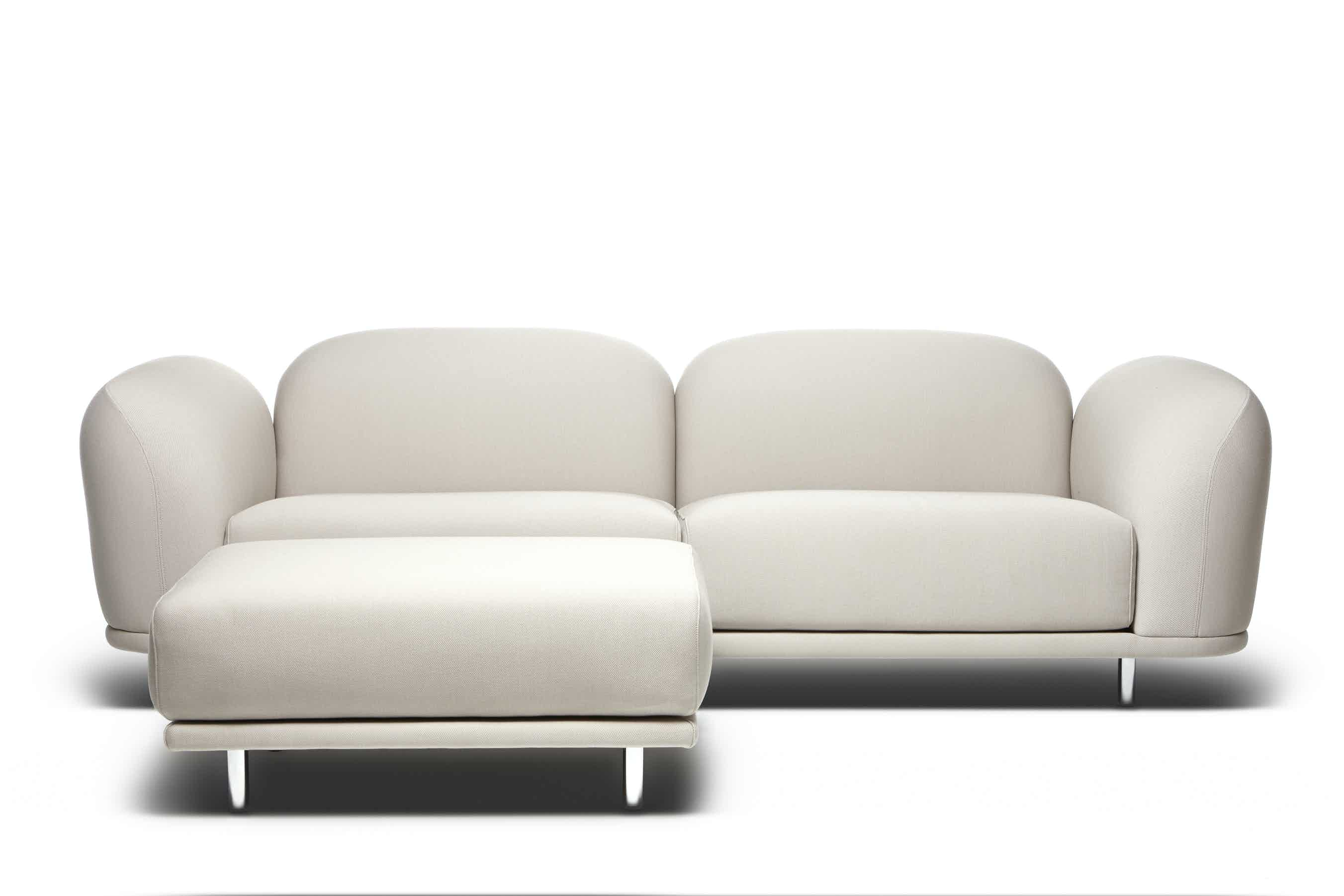 Moooi cloud sofa white chaise haute living