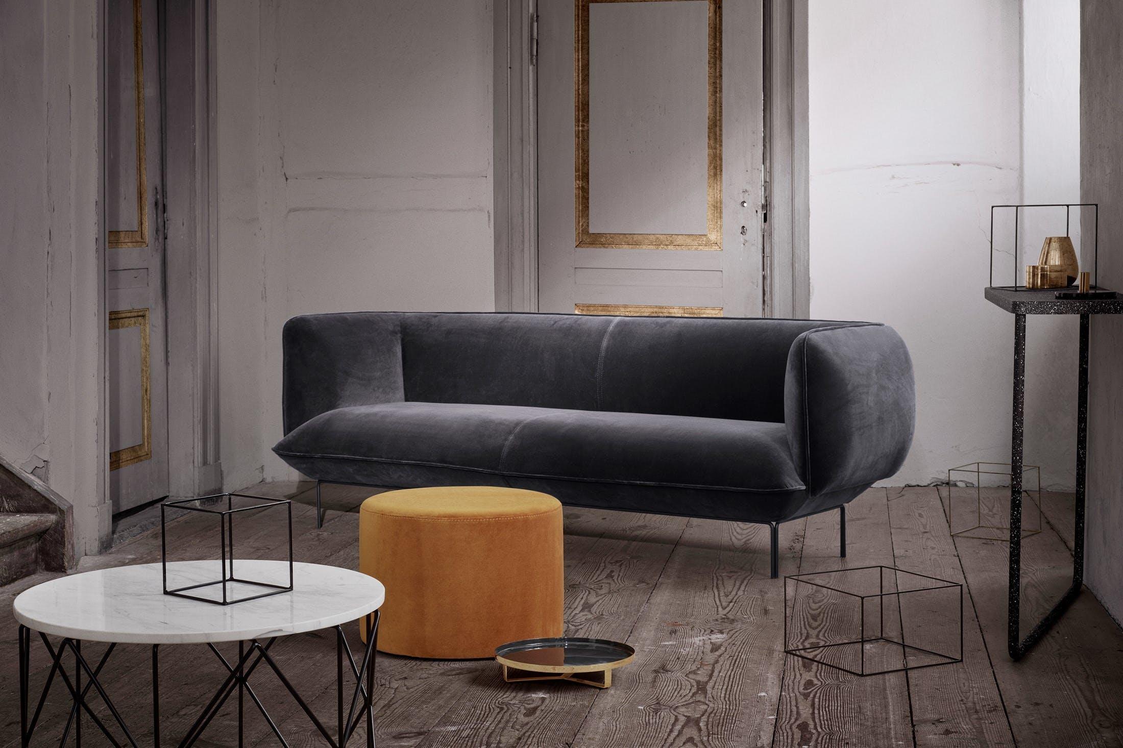 Bolia Grey Velvet Cloud Sofa Insitu Haute Living