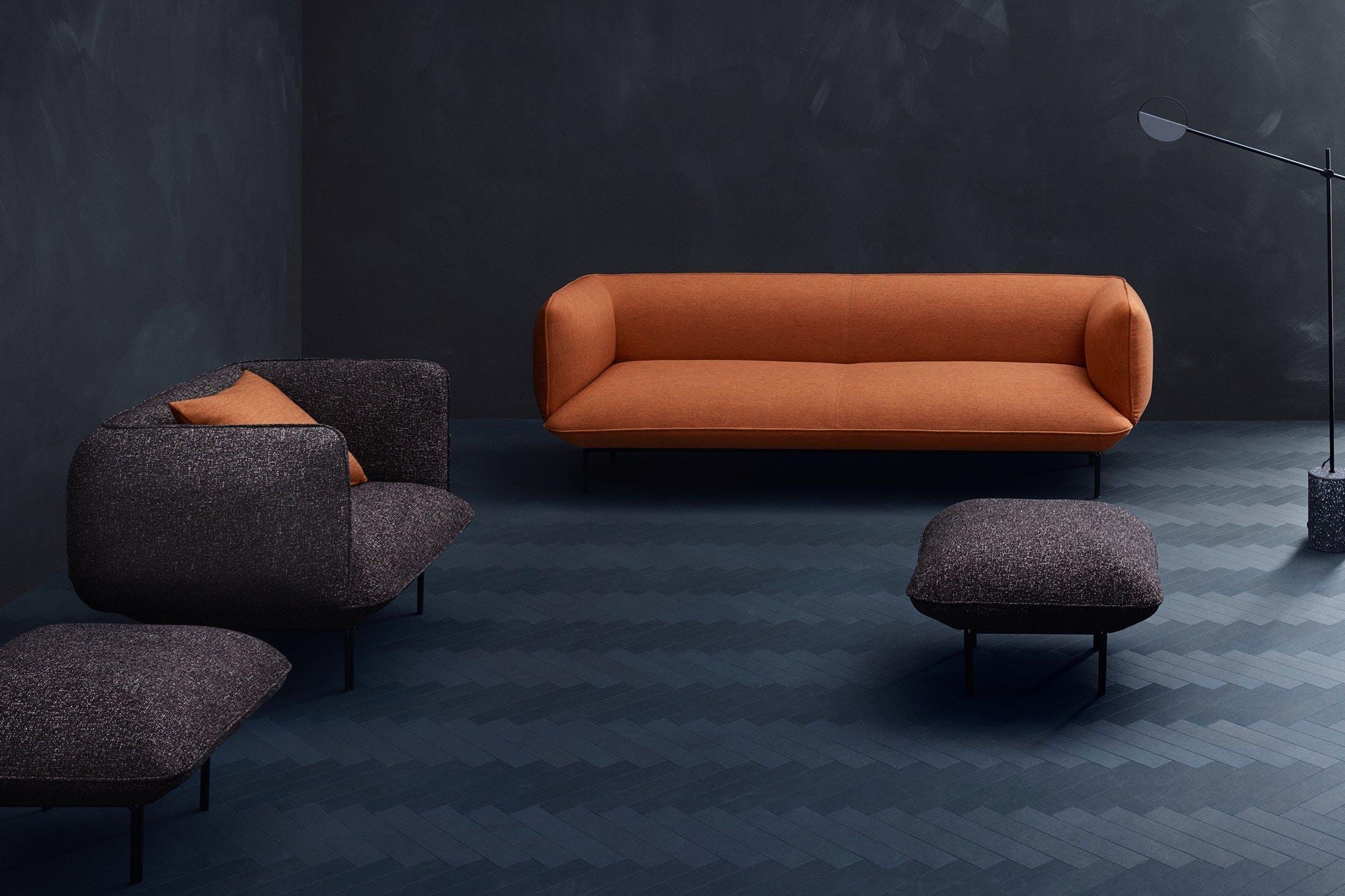 Bolia Orange Cloud Sofa Insitu Haute Living
