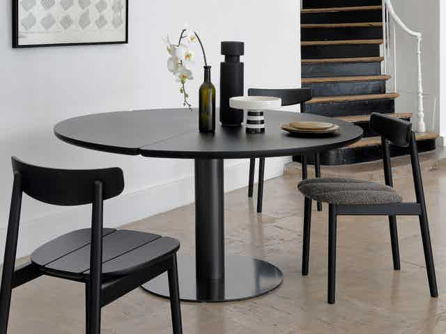 Coedition furniture klee chair upholstered black insitu haute living
