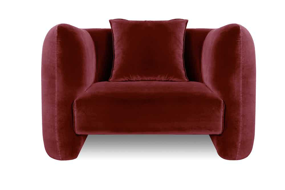 Collector furniture jacob armchair red haute living