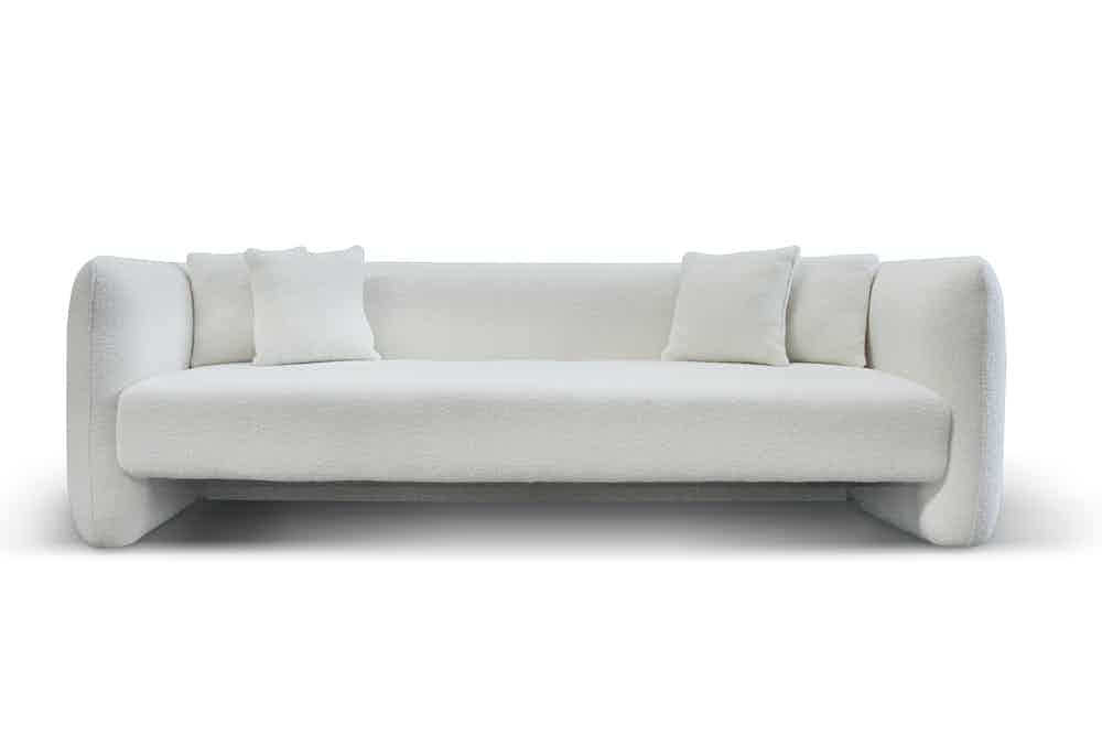 Collector jacob three seater sofa white haute living