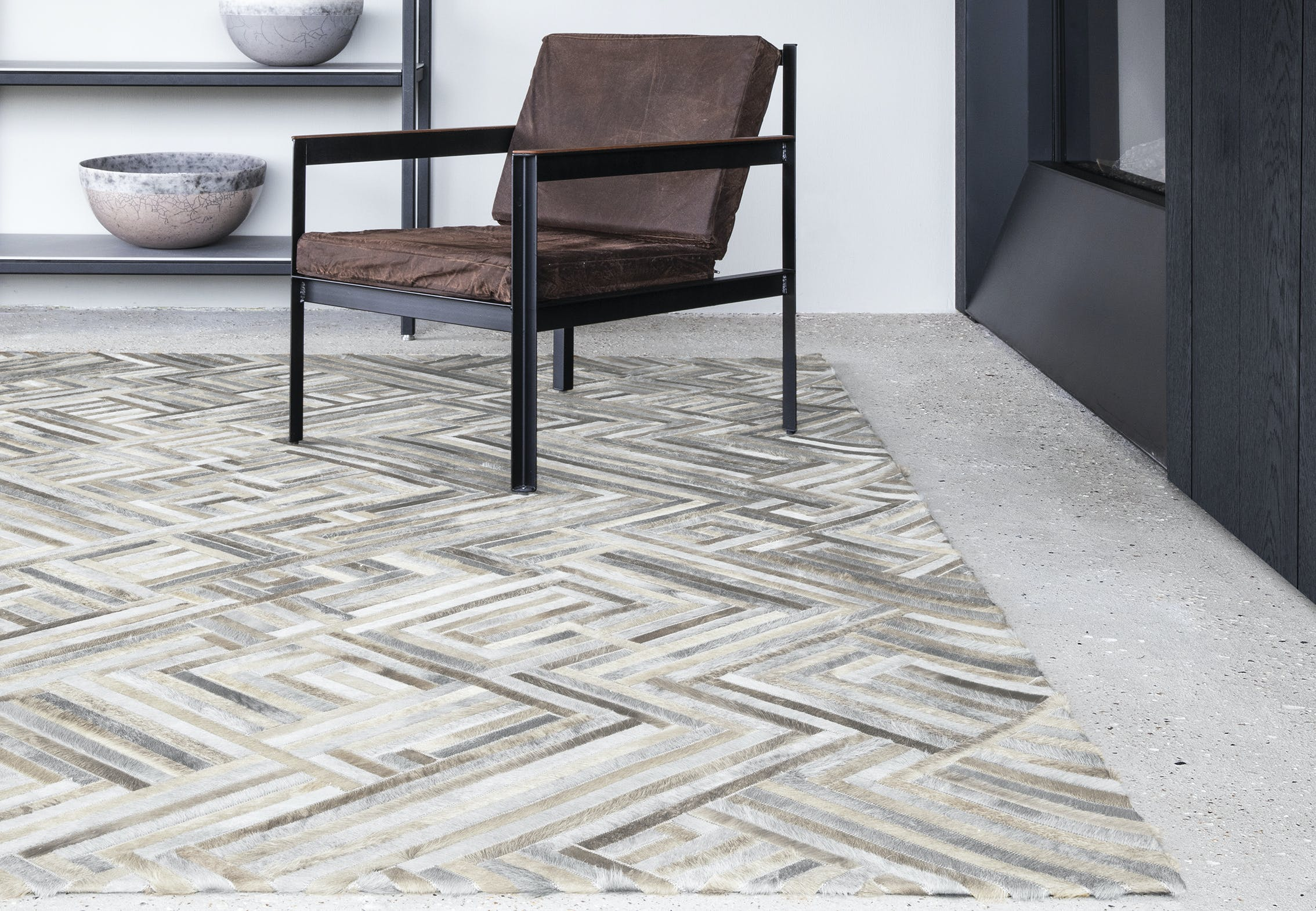Limited Edition Rugs Connection Rug Silverwhite Insitu Haute Living