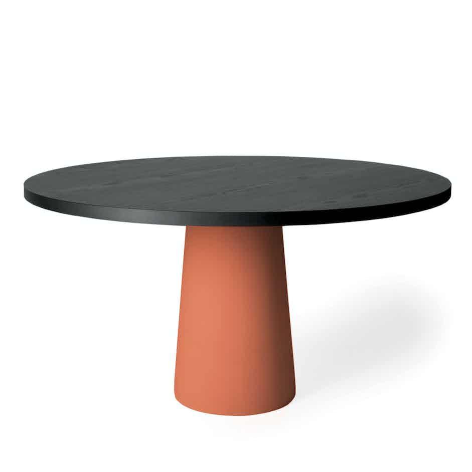 Moooi container table 7143 terracotta haute living