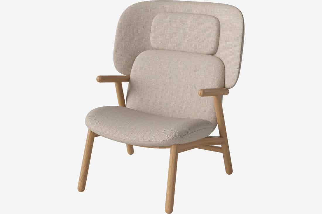 Bolia cosh armchair high back beige haute living