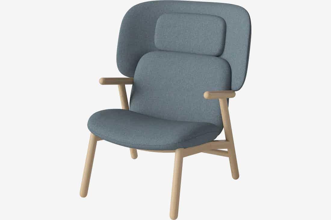 Bolia cosh armchair high back blue haute living