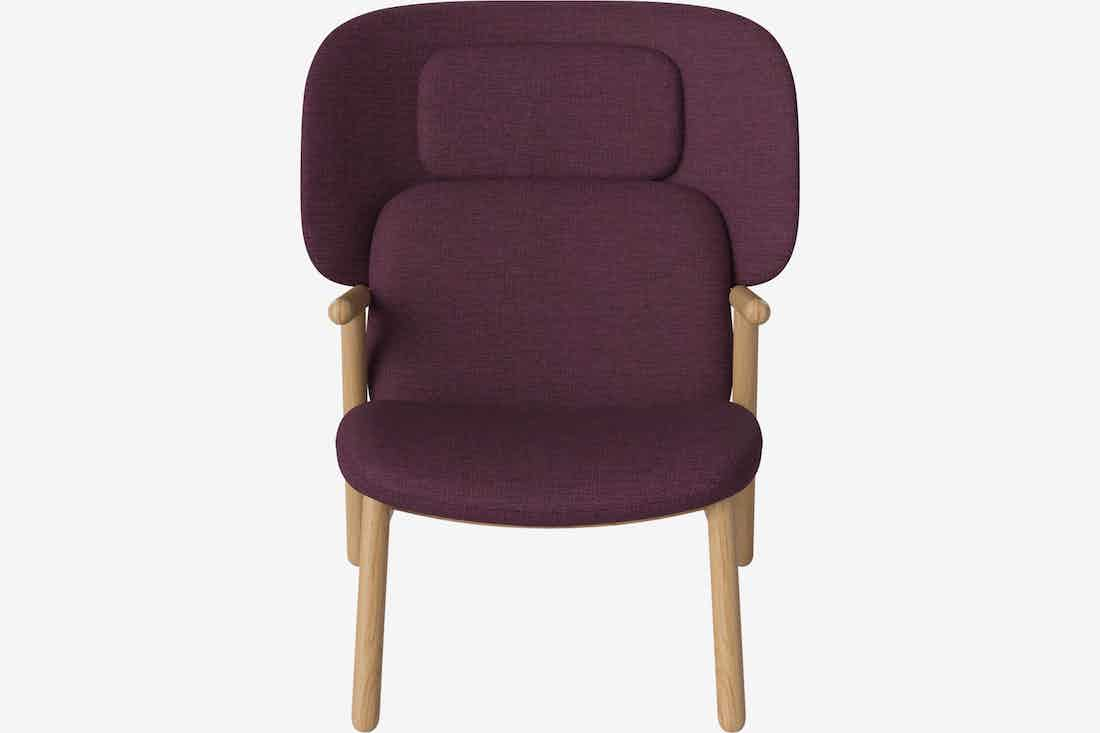 Bolia cosh armchair high back front haute living