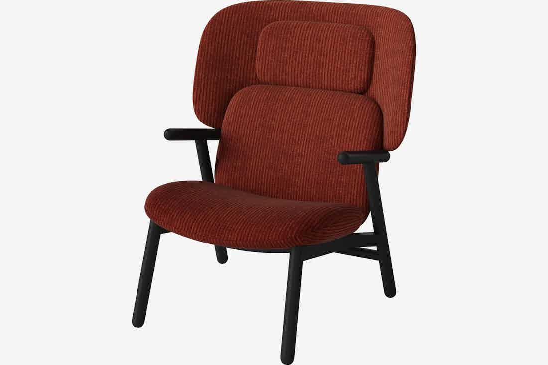 Bolia cosh armchair high back red haute living