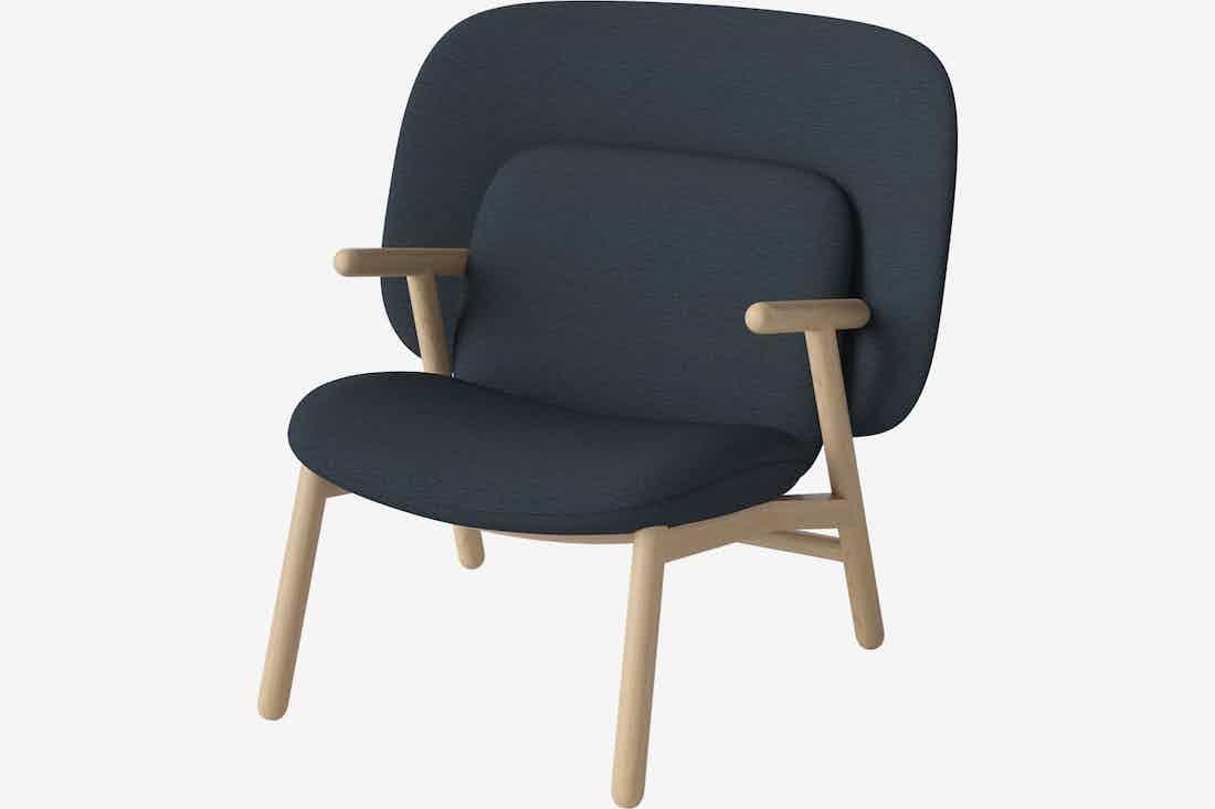 Bolia cosh armchair medium back blue haute living