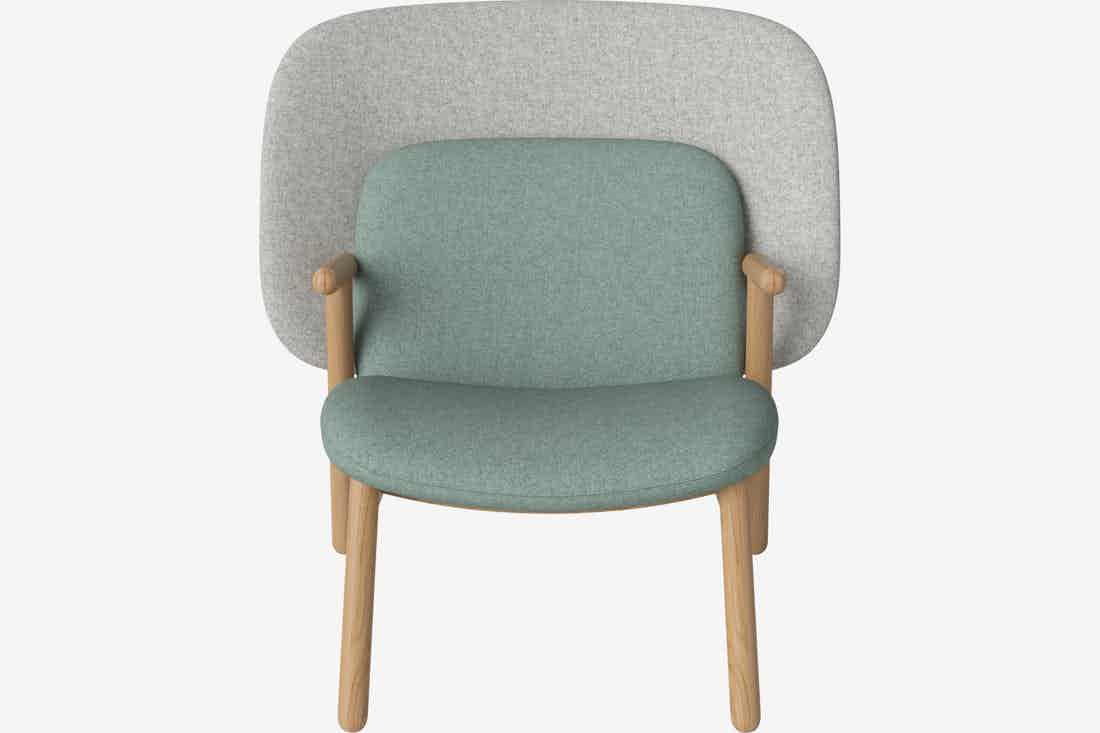 Bolia cosh armchair medium back front haute living