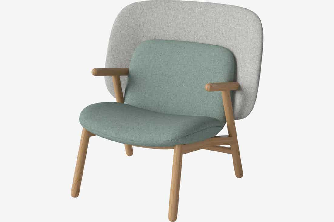 Bolia cosh armchair medium back green haute living