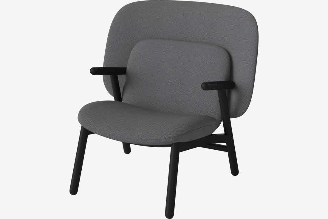 Bolia cosh armchair medium back grey haute living