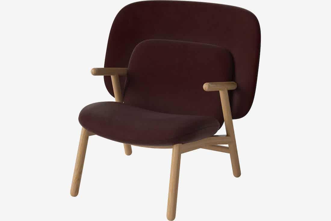 Bolia cosh armchair medium back red haute living