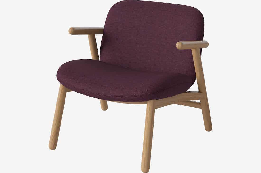 Bolia cosh armchair burgundy haute living