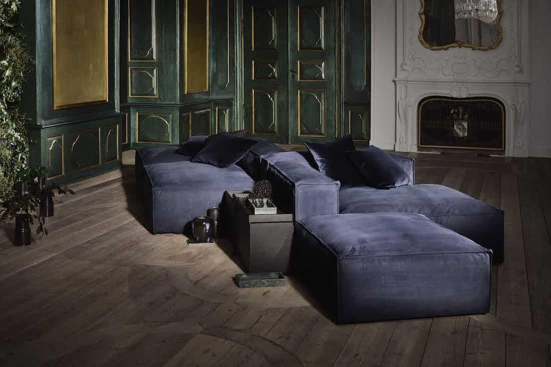 Bolia Blue Velvet Cosima Modular Sofa Haute Living