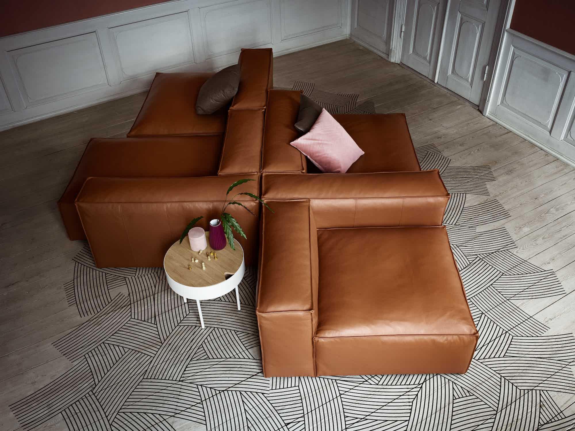 Cosima Alfred Stefy Classic Velvet Box Sofa Copy