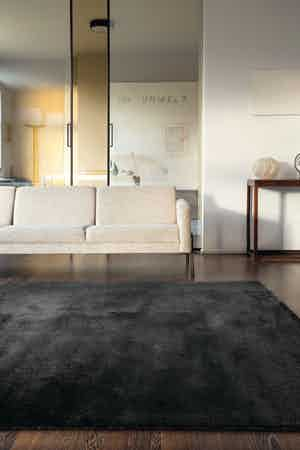 Limited Edition Rugs Cosmos Rug Medium Black Silver Insitu Haute Living