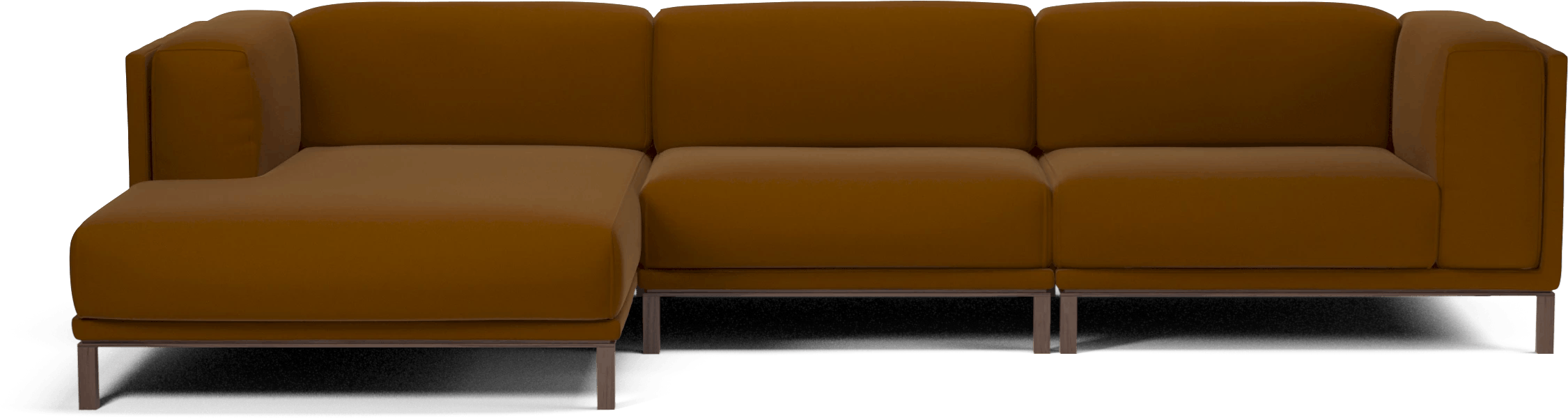 bolia orange cosy modular sofa haute living
