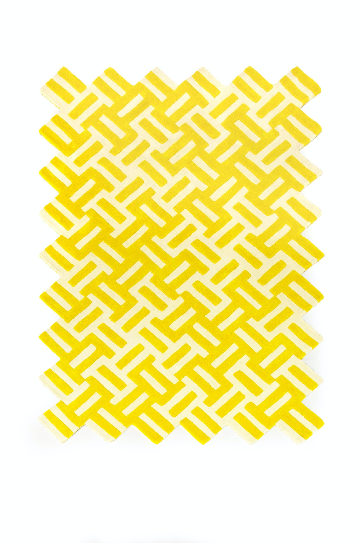 La-chance-yellow-cross-rug-haute-living